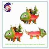 Wholesale Dinosaur House Ornaments of Home and Garden Flower Pot Metal for Garden Decoration