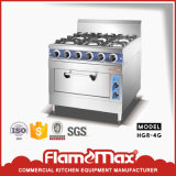 Cheap Price Kitchen appliance 4-Burner Cooker with Electric Oven (HGR-4E)