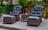 Sofa Outdoor Rattan Furniture with Chair Table Wicker Furniture Rattan Furniture for Outdoor Furniture with Wicker Furniture (Hz-BT110)