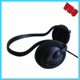 Black High Definition Neck-Band Headphone (VB-866)