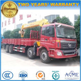 Auman 8X4 Heavy Duty Cargo Truck Mounted with 14 Tons Crane