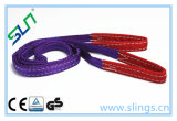 2018 1-10t Synthectic Fibre Heavy Eye Type Lifting Webbing Sling