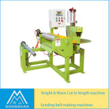 Sanding Belt Straight and S Wave Joint Cutting Abrasive Cloth Length Cutting Machine