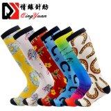 Wholesale Custom Logo 3D Printing 360 Womens Mens Terry Cotton Thigh High Equestrian Socks