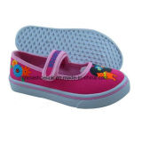 Colorful Child Canvas Shoes Slip-Ons with Vulcanized Sole