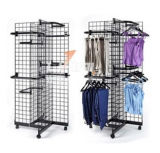 Metal Wire Retail Wholesale Exhibition Wine Floor Retail Store Product Display Stand Garment Fruit Hat Kitchen Rack Factory