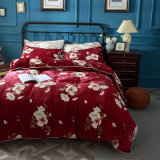 Flannel Coral Sheep Blanket Bedding Sheet Winter Quilt Cover Set