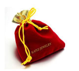 Mix Color Soft Velvet Pouches with Drawstring for Jewelry Gift Packaging