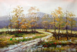 Handmade Birch Forest Oil Painting for Home Decoration