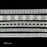 White Ladder Double Beading Lace Trim, Insertion Lace Trim, Under One Dollar Lace Trim L181