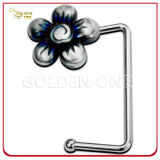 New Design Metal Handbag Hook with Flower Shape