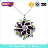 3D Silver Flower Colorful and Beautiful Necklace
