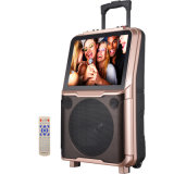 Mobile Theatre Portable Wireless Bluetooth Shinco Speaker with 15'' TFT LCD Screen