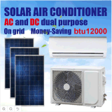 Acdc Dual Power Supply Hybrid on Grid 12000 BTU Solar Air Conditioner Manufacturer in China