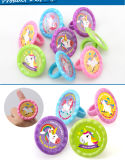 Dtr0013 Magical Unicorn Party Favor Toys Mini-Color Plastic Ring for Kids