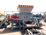 Tire/Metal/Plastic/Wood/Construction Waste Shredder Double Shaft Shredder