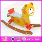 2015 Traditional Toy Kid Wood Rocking Horse, Bear Design Wooden Rocking Horse Toy, Cheap Indoor Wooden Baby Rocking Horse Wjy-8013