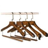 High End Deluxe Custom Wooden Garment Hanger with Wide Shoulders
