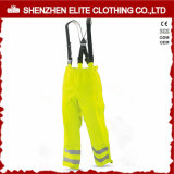 High Quality Disposable Fluorescent Yellow Bib Overalls for Men (ELTCVJ-16)