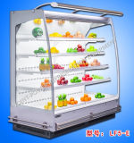 110V Commercial Supermarket Open Display Fridge with Air Curtain