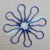 Ocean Blue Color Pear Shaped Hang Tag Safety Pin (P160217C)