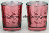 Two Sets Paraffin Wax Filled Scented Candles in Glass Jar