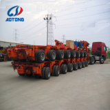 80 Ton 120 Ton 150 Tons Row Line Axle Heavy Duty Truck Towing Lowbed Trailer with Multi Axle