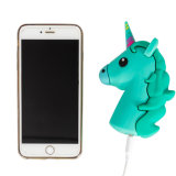 New Design OEM Portable PVC Soft Silicone Cute Cartoon Unicorn Power Bank for Promotion