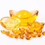 OEM Yellow Crystal Gold Ingot for Home Decoration