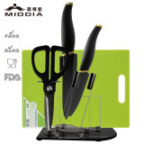 5 Pieces Ceramic Scissors & Knife Set with Holder