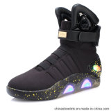 Popular Men Casual Rechargeable LED Lights Boots with Spandex Upper