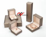 Champagne Leatherette Paper Plastic Ring Box