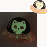 Rose Gold Cute Cartoon Glow in The Dark Lapel Pin