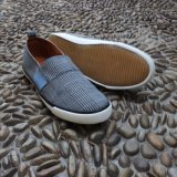Check Fabric Slip on Men Shoes Casual Shoes Footwear Rubber Outsole