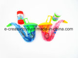 Electronic Saxophone Bubble Water with Light and Music