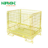 Warehouse Heavy Duty Customized Portable Wire Roll Container Storage Cage
