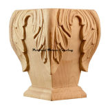 Wood Carved Acanthus Square Bun Foot CBF-09