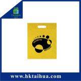 Cheap Garment Shopping Plastic Carry Bag Custom Printed Punch Handle Bags with Your Logo