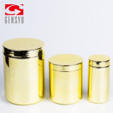 Sports Nutrition Packaging HDPE Plastic 16oz Jar Products with Golden Chromed