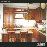 2016 Welbom Antique Red Solid Wood Kitchen Cabinet