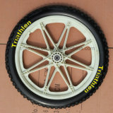 """Solid Rubber/Pneumatic/PU Foam Tire Tyre with Plastic Wheel 10"""" 12"""" 14"""" 16"""" 20"""""""
