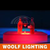 LED Illuminated Wireless Portable Square Coffee Cup Holder Tray