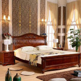 Solid Wooden Bed Modern Double Beds (M-X2275)
