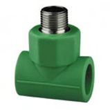 PPR Anti-Bacterial Fittings Male Threaded Tee for Water Supply