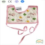 Pink Soft Cotton Baby Bibs Kids Bibs / Baby Lunch Bibs 2 Layer Waterproof