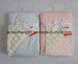 Solid Color Micro Mink with Heat Press/Sherpa Baby Blanket