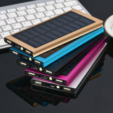 Solar Power Bank Phone Charger with LED, Super Thin Power Bank