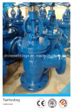 Outside Screw Stem Flanged Right Angle Globe Valve