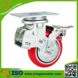 Heavy Duty Polyurethane Cast Iron Shock Absorption Caster Wheel
