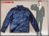 Men′s PU Jacket with Garment Dyeing